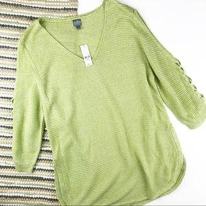 NWT soho ny & company green sweater